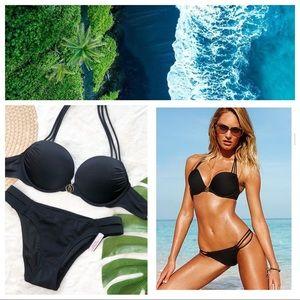 Victoria's Secret black Bombshell Bikini 34B/XS